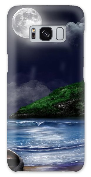 Moon Over The Cove Galaxy Case