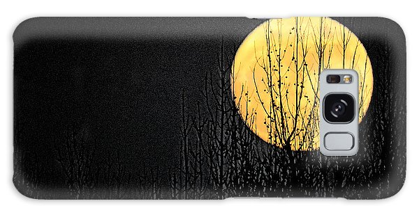 Moon Over The Trees Galaxy Case