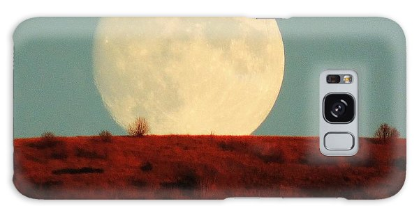 Moon Over Utah Galaxy Case by Charlotte Schafer