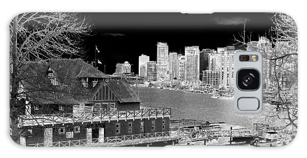 Vancouver City Galaxy Case - Moon Over Vancouver by Will Borden