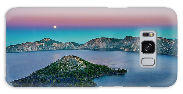 Moon Over Wizard Island Galaxy Case