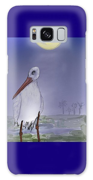 Moon Rise Becomes A Stork Galaxy Case