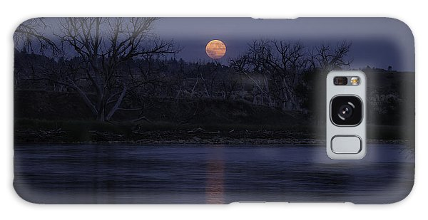 Moon Rise Over The Tongue Galaxy Case