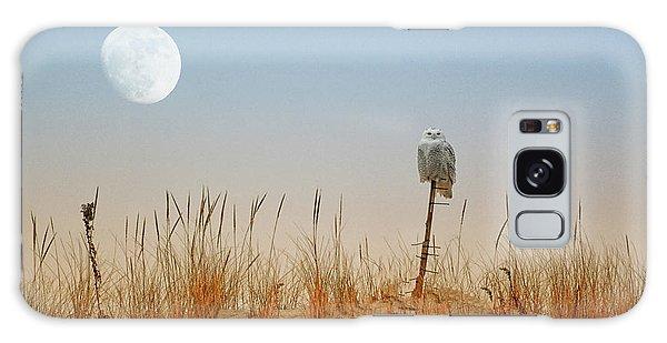 Moon Rise Snowy Owl Galaxy Case