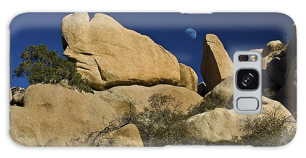Moon Rising Over Indian Rock Galaxy Case