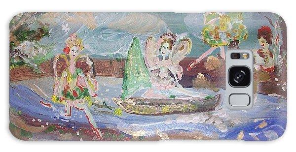 Moon River Fairies Galaxy Case by Judith Desrosiers