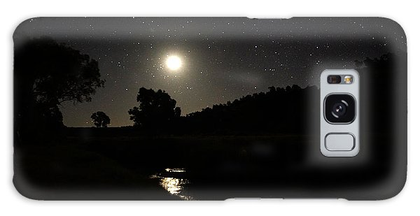 Moon Set Over Palm Valley 2 Galaxy Case