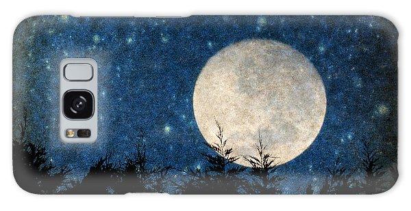 Moon, Tree And Stars Galaxy Case