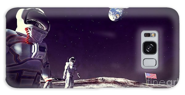 Moon Walk Galaxy Case by Methune Hively