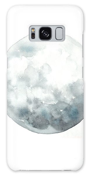 Moon Galaxy Case - Moon Watercolor Art Print Painting by Joanna Szmerdt