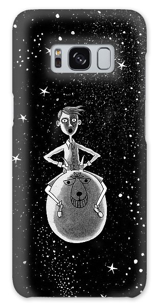 Pen And Ink Drawing Galaxy Case - Moonage Daydream  by Andrew Hitchen