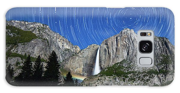 Moonbow And Startrails  Galaxy Case