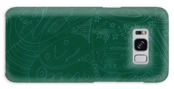 Moonfish Drawing Negative Green Chalk Galaxy Case