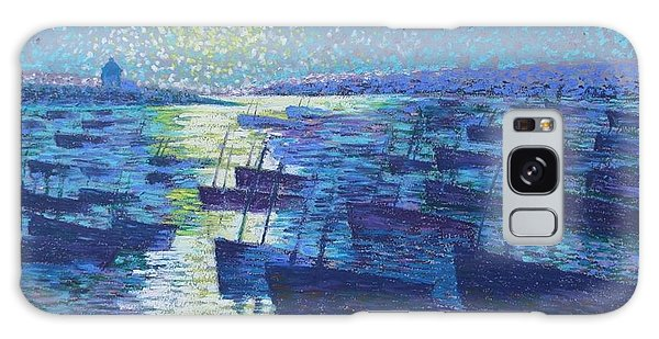 Moonlight And Fishing Boat Galaxy Case