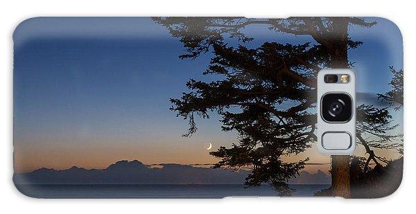 Moonlight At The Beach Galaxy Case