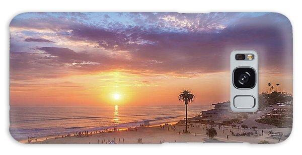Moonlight Beach Sunset Galaxy Case