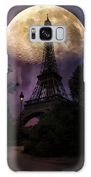 Moonlight In Paris Galaxy Case by John Rivera