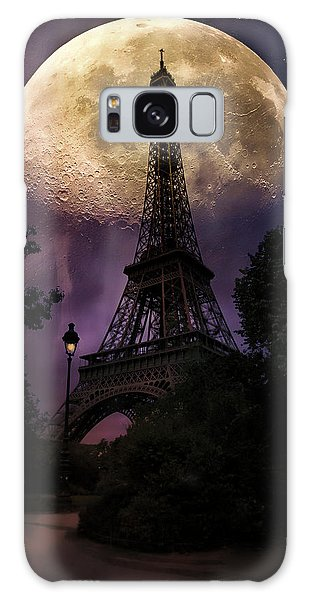 Moonlight In Paris Galaxy Case