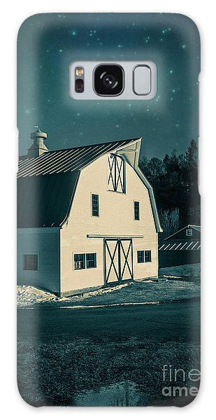 Galaxy Case featuring the photograph Moonlight In Vermont by Edward Fielding
