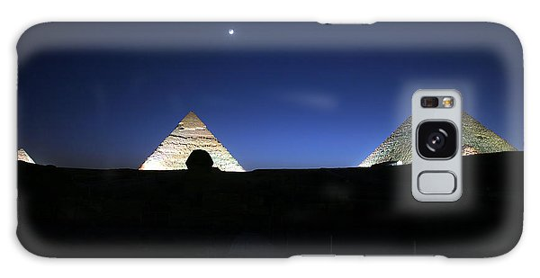 Moonlight Over 3 Pyramids Galaxy Case