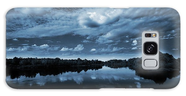 Outdoors Galaxy Case - Moonlight Over A Lake by Jaroslaw Grudzinski