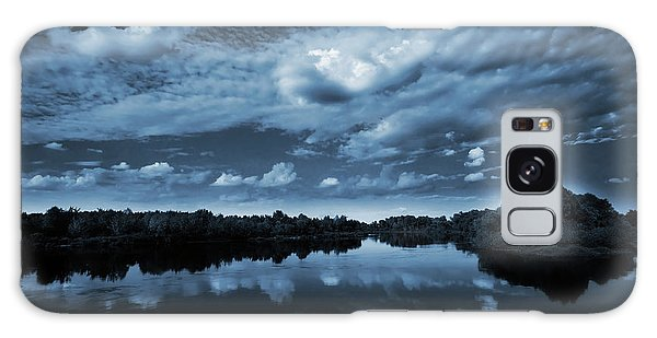 Bright Galaxy Case - Moonlight Over A Lake by Jaroslaw Grudzinski