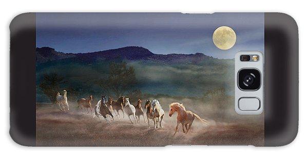 Moonlight Run Galaxy Case by Melinda Hughes-Berland
