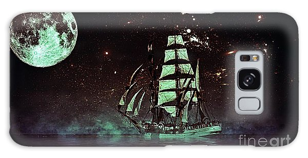 Moonlight Sailing Galaxy Case