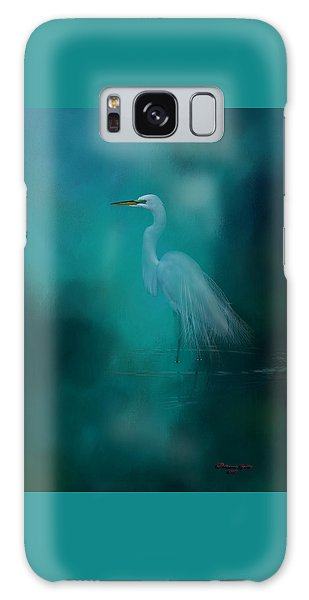 Egret Galaxy Case - Moonlight Serenade by Marvin Spates