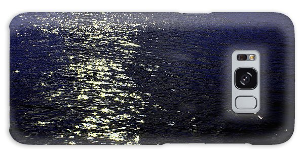 Cottage Galaxy Case - Moonlight Sparkles On The Sea by Linda Woods