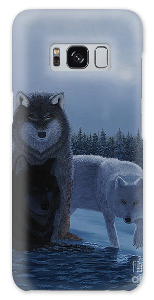 Moonlight Wolves Galaxy Case by Stanza Widen