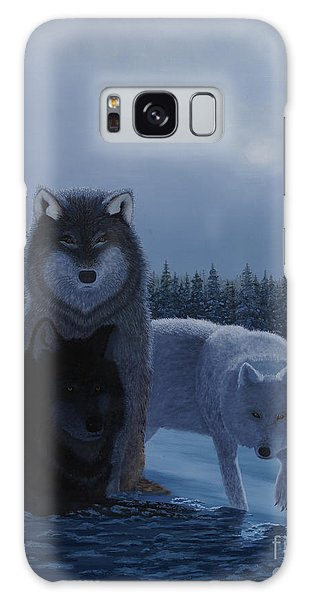 Moonlight Wolves Galaxy Case