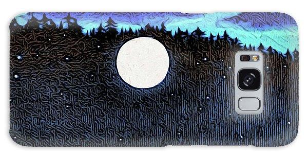 Moonlit Beach Galaxy Case