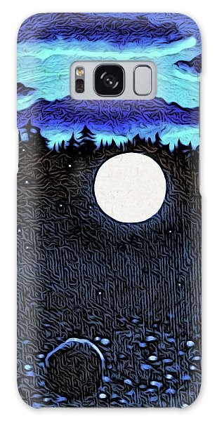Moonlit Beach Galaxy Case