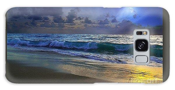 Moonlit Beach Seascape Treasure Coast Florida C4 Galaxy Case