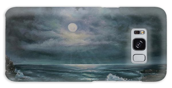 Moonlit Seascape Galaxy Case