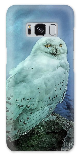 Moonlit Snowy Owl Galaxy Case