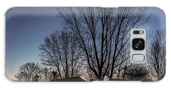 Moonlit Sunrise Galaxy Case