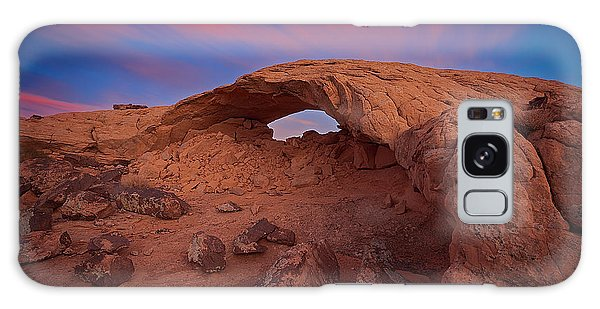 Galaxy Case featuring the photograph Moonrise Arch by Edgars Erglis