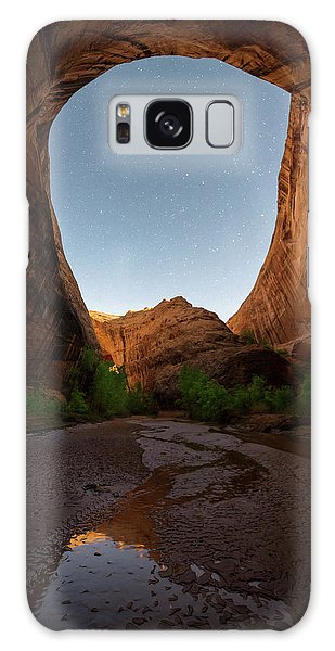Moonrise At Coyote Gulch Galaxy Case by Dustin LeFevre