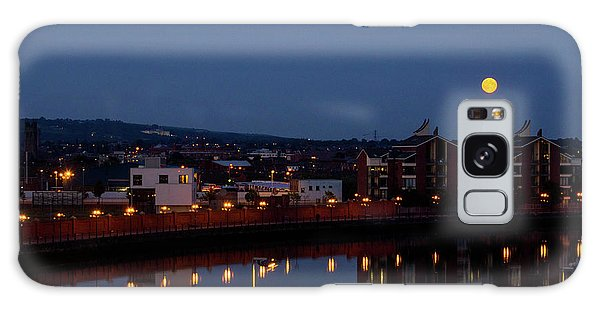 Moonrise In Belfast Galaxy Case