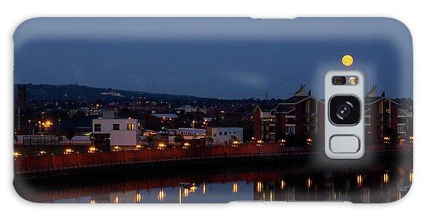 Moonrise In Belfast Galaxy Case