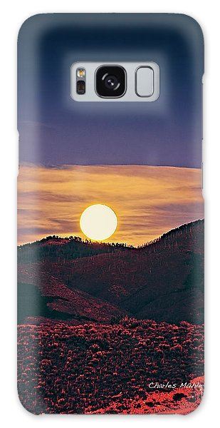 Moonrise In Northern New Mexico  Galaxy Case