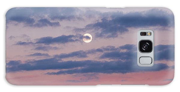 Moonrise In Pink Sky Galaxy Case