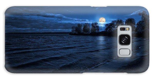 Moonrise On The Beach Galaxy Case