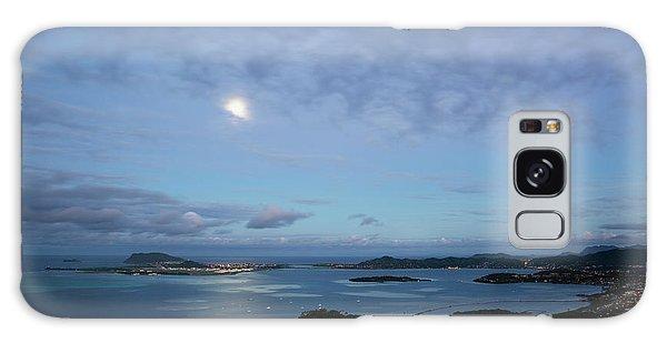 Moonrise Over Kaneohe Bay Galaxy Case