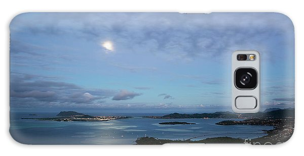 Moonrise Over Kaneohe Bay Galaxy Case