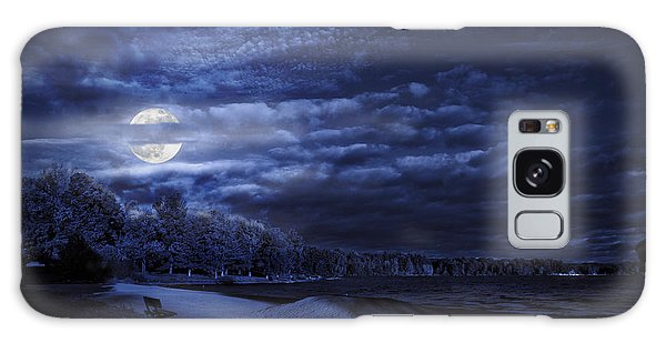 Moonrise Over Pymatuning Lake Galaxy Case