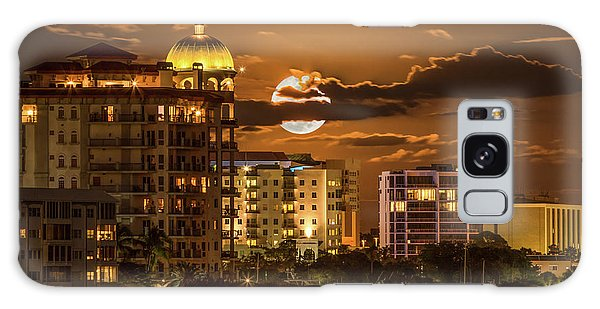 Moonrise Over Sarasota Galaxy Case