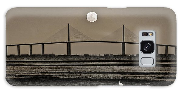 Moonrise Over Skyway Bridge Galaxy Case by Steven Sparks